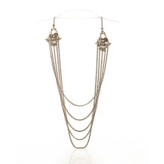 VINTAGE 800 SILVER NEOCLASSICAL NECKLACE CHAIN