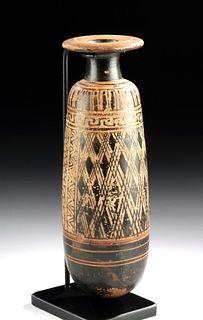 Rare Greek Attic Black-Figure Alabastron