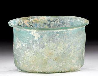 Eastern Roman Glass Bowl w/ Great Iridescence