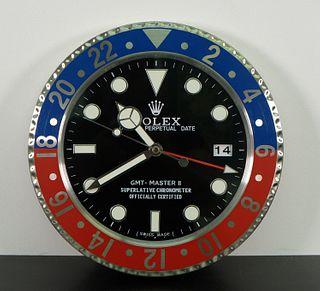 Rolex Dealer Advertising GMT Master II Wall Clock
