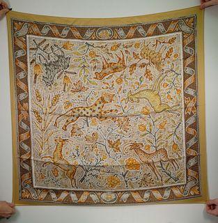 Hermes 'Pavement' Silk Scarf in Box