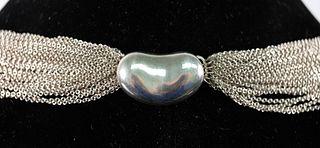 Elsa Peretti for Tiffany & Co Sterling Bean Choker