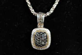 EFFY Sterling and 18k Diamond Necklace