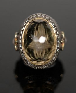 Important Ecclesiastical Bishop's Ring w/Bone