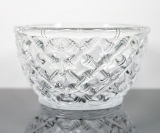 Tiffany & Co Large Bamboo Crystal Bowl