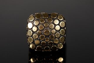 John Hardy 18K Gold & 925 Dot Collection Ring