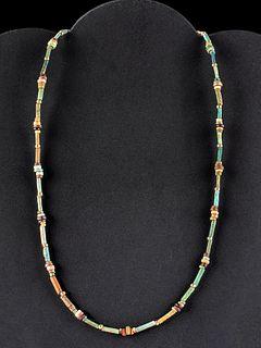 Fine Egyptian Glazed Faience Bead Necklace