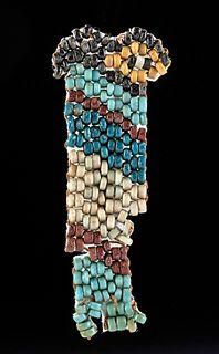 Egyptian Nubian Faience Beaded Figure - Qebehsenuef