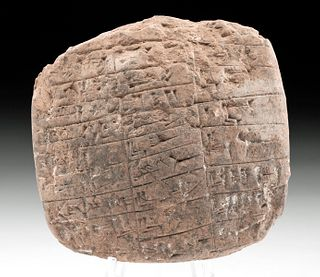 Mesopotamian Sumerian Clay Cuneiform Tablet w/ 25 Lines