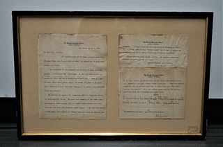 Rare Unique typed and signed letter written by Helen Keller $20K Value!