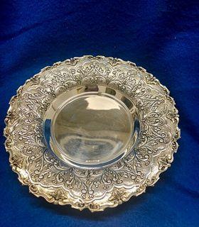 Hz Benedetti Hazorfim 925 Silver Judaica Plate Est $3K Apr Value