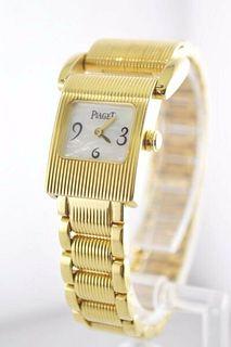 Piaget Lady's Watch Miss Protocole Shell Dial Original Bracelet 18KYG $25K VALUE