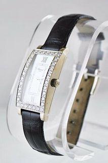 Chopard Diamond Bezel Ladies Rectangle Wristwatch Pearl Dial 18 KWG $50K VALUE