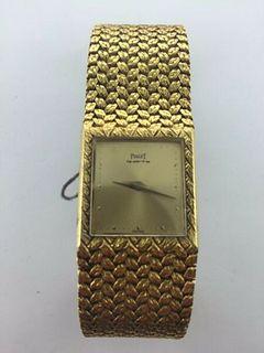 Piaget 18KYG Women's,Rare Designed Bracelet,w/gold Dial.BNC w/box,pprs!Est.$40K!