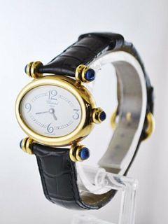 Vintage Chopard Imperiale 5246 Oval Ladies watch Sapphire 18KYG $30KVALUE,w/Cert