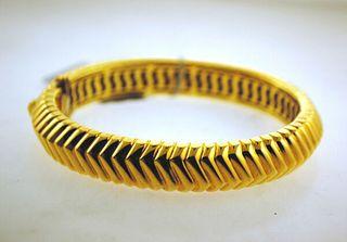 Tiffany & Co. 18K Yellow Gold Geometric Bangle Bracelet- Est. Value $30K!