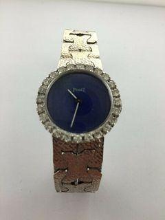 Piaget 18k WG Women's watch w/24 diam Bezel,Lapis Lazuli Dial.Box,2YR,Est $50K!!