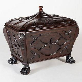 William IV Carved Mahogany Cellarette