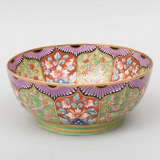 Minton Porcelain Imari Decorated Punch Bowl