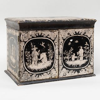 Chinoiserie Decorated Penwork Cabinet