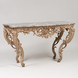 Louis XV Style Painted Console Table