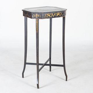 Late George III Painted Work/Sewing Table