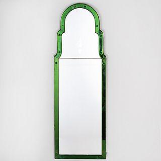 Queen Anne Style Green Glass Pier Mirror