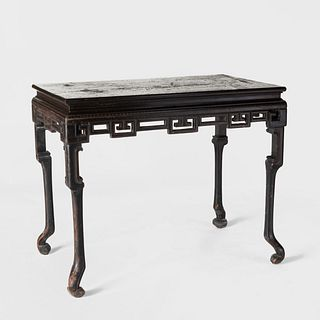 Chinese Export Black Lacquer and Parcel-Gilt Table