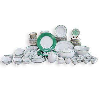 (174 Pc) Large Set of Christofle Porcelain Dinner Service