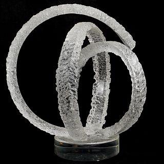 Van Teal Lucite Sculpture