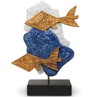 Georges Braque (France, 1882-1963) Les Oiseaux Bleus