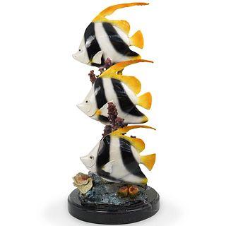 A. Leonard Bronze Fish Sculpture