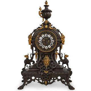 Louis XV-Style Bronze Mantel Clock