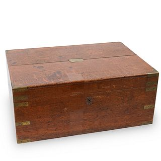 Large Brass Mounted Wooden Box