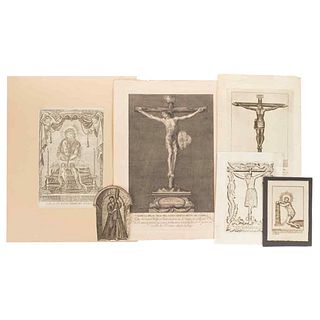Jesus Christ. Different representations. Jesus Carrying the Cross, Lord of the Column, Sto. Chrifto de Burgos. Engravings. Pieces: 6.