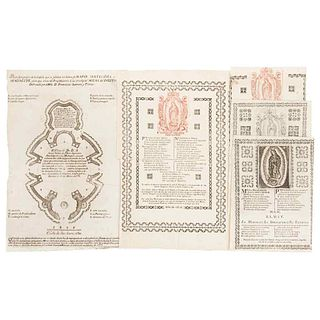 Our Lady of Guadalupe and Ichnographic Plan. Bordered pages, w/engraving of the Virgin & Plan of the Chapel of Pocito. Pzs.5