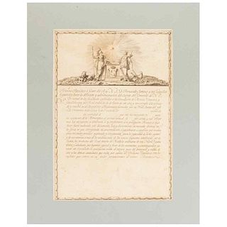 Préstamo Patriótico a Favor del Rey N. S. D. Fernando Séptimo. W/engraving by J. Guerrero. México 1810.