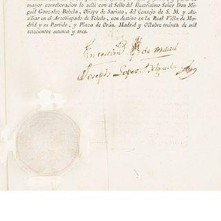 López Delgado, Joseph. Breve de su Santidad sobre la reducción de Asylos en todos los Dominios de España y las Indias... Madrid: 1773