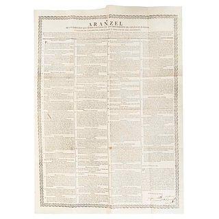 Núñez de Haro y Peralta, Alonso. Aranzel de los Derechos que Deben Llevarse en los Provisoratos de Españoles e Indios... Tacubaya: 1789