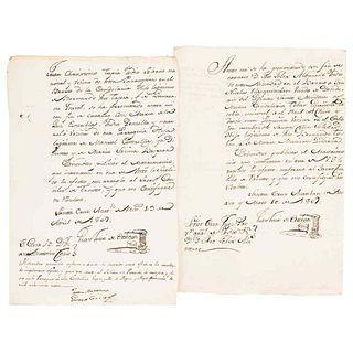 Torre de Ortega, Juan. Marriage Requests. México: April and May, 1809. Pieces: 2.