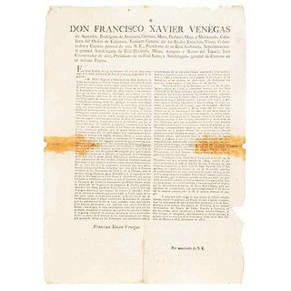 Venegas de Saavedra, Francisco Xavier. Band: Forbidding the marriage of whites with other castes. México, December 18th, 1810.