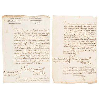 Martínez Sotomayor, José Ma. Requests for Marriage. México: 1824 and 1825. Pieces: 2.