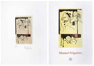 "MANUEL FELGUÉREZ, Sin título, 2006, Signed, Etching 88 / 100, 3.9 x 2.3"" (10 x 6 cm)"