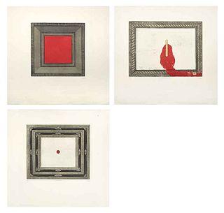 BORIS VISKIN, a)Grabado Vendido, b)La vida que se nos va, c)Insomnio, Signed, Engravings 18/30, Various measurements for each, Pieces: 3