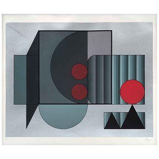 """MANUEL FELGUÉREZ, Untitled, Signed, Serigraph P / A, 16.5 x 20.8"""" (42 x 53 cm)"""