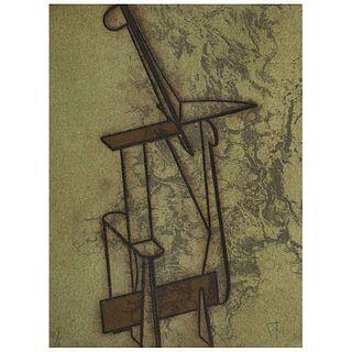"MANUEL FELGUÉREZ, Untitled, Signed, Screen print and Intaglio P/ I, 15 x 11.4"" (38.5 x 29 cm)"
