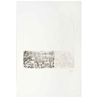 """ENRIQUE JEZIK, Untitled, Signed and dated 94, Aquatint and Intaglio 28 / 50, 11.8 x 11.4"""" (30 x 29 cm)"""