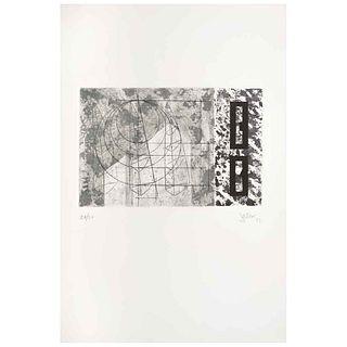 "ENRIQUE JEZIK, Untitled, Signed and dated 93, Aquatint 28 / 50, 7.8 x 11.8"" (20 x 30 cm)"