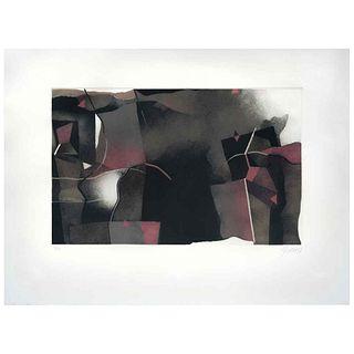"GABRIEL MACOTELA, Untitled, Signed and dated 87, Aquatint 27 / 45, 13.3 x 21.2"" (34 x 54 cm)"