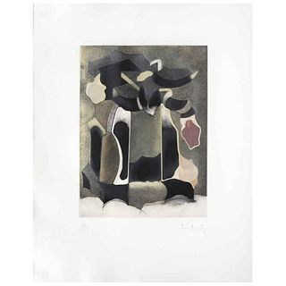 "LUIS LÓPEZ LOZA, Untitled, Signed, Aquatint 75 / 75, 15.3 x 11.4"" (39 x 29 cm)"
